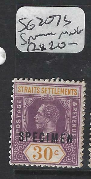 MALAYA STRAITS SETTLEMENTS   (P0906B)  KGV  30C  SG 207S SPECIMEN MNG