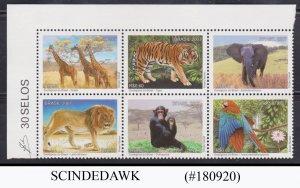 BRAZIL - 2007  WILD ANIMALS 6V SET MNH