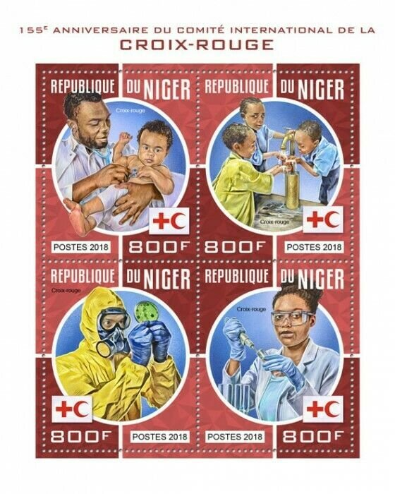 HERRICKSTAMP NEW ISSUES NIGER Red Cross Sheetlet