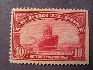 U.S.# Q6-MINT/NO GUM(UNUSED)----CARMINE ROSE--- $.10-PARCEL POST---1913