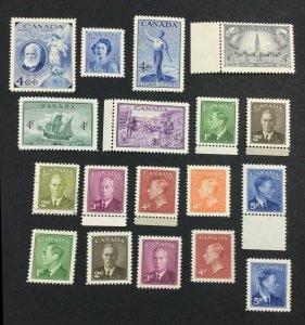 MOMEN: CANADA SG # 1947-50 MINT OG H £ LOT #7118