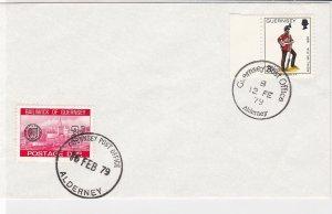Guernsey 1979 3p Postage Due Stamp Guernsey+Alderney Cancel Stamps Cover rf22093