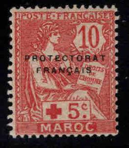 French Morocco Scott B7 MH* semi-postal stamp