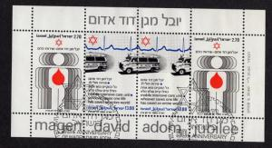 Israel   #748-749a   1980 used   Red Star of David sheet