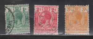 BRITISH HONDURAS Scott # 75-7 Used - KGV Definitives