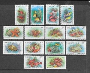 FISH - St KITTS #139-52  MNH