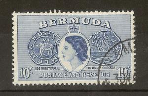 Bermuda 1953 10/- SG149 Fine Used