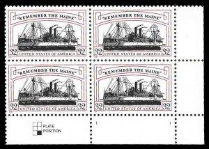 PCBstamps    US #3192 PB $1.28(4x32c)Remember/Maine, MNH, (PB-4)