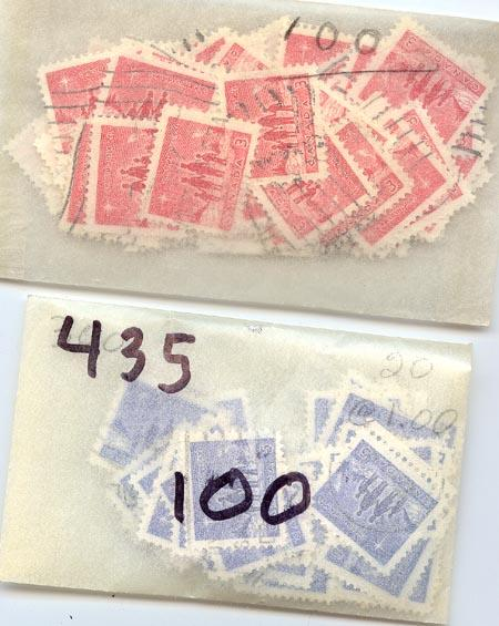 Canada - 1964 Christmas X 2100 used sets #434-435