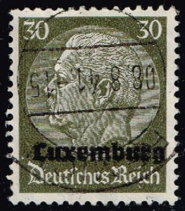 Luxembourg #N11 Hindenburg - German Occupation; Used (4Stars)