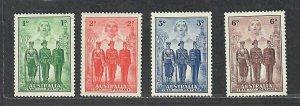 Australia Sc#184-187 M/NH/VF, Cv. $46.25