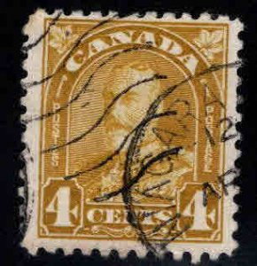 CANADA Scott 168 Used Yellow Bister  KGV stamp