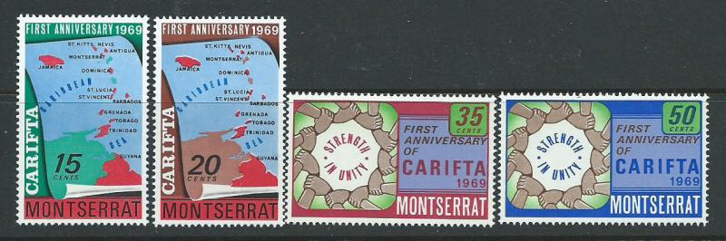 Montserrat SG 223 - 226 set  Mint Very Light Hinge