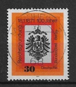 GERMANY Berlin - 1971  used - Reichsgründung   - vfu