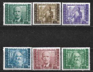 COLLECTION LOT OF 6 ITALY AIR MAIL VERY LIGHT HINGED 1938 STAMPS CV=$54 2 SCAN