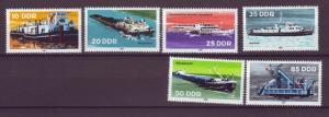 J20574 Jlstamps 1981 germany ddr set mnh #2221-6 ships