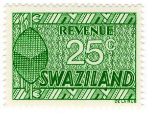 (I.B) Swaziland Revenue : Duty Stamp 25c