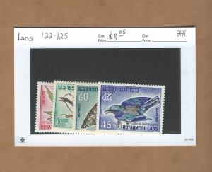 Laos 122-125  MNH