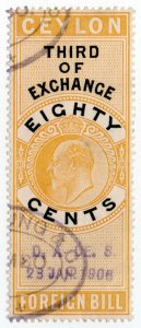 (I.B) Ceylon Revenue : Foreign Bill 80c (Third)