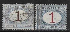Italy J13 - 14 used SCV $21.25   -    13039