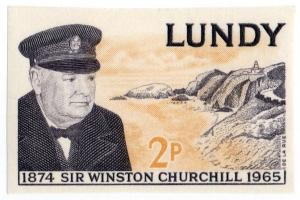 (I.B-JA) Cinderella Collection : Lundy Churchill 2p (imperforate proof)