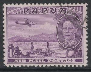 PAPUA SG167 1939 1/= MAUVE FINE USED