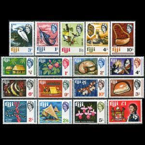 FIJI 1968 - Scott# 240-56 Fauna etc. Set of 17 LH