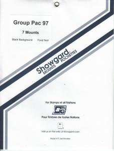 SHOWGARD BLACK MOUNTS GROUP PACIFIC 97 (7) RETAIL PRICE $5.75