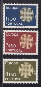 Portugal  #1060-1062  MNH  1970  Europa