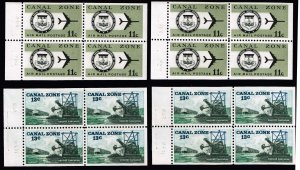 US STAMP Possessions CANAL ZONE MNH BOOKLET PANE OF 4STAMPS LOT
