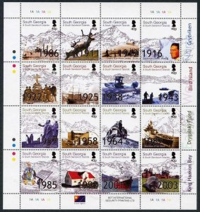 South Georgia and South Sandwich Is SG364/79 2004 Aspects set of 16 Cat 32 poun