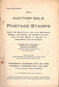 Franklin: Sale # 7  -  7th Auction Sale of Postage Stamps...