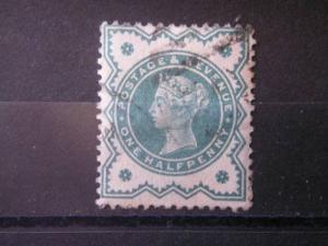 GREAT BRITAIN, 1900, used 1/2p, Scott 125, Queen Victoria Jubilee