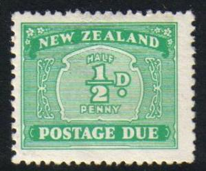 New Zealand #J22 mint postage due single, issued 1939