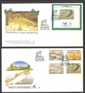 South Africa Ciskei Sc# 135-138a FDC Set/2 1989 Trout Hatcheries