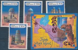 Uzbekistan stamp Architecture set + block MNH 1995 Mi 71-74 + Mi 6 WS197188
