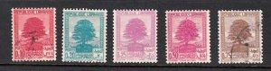 LEBANON- LIBAN SC# 137-138A CEDARS USED
