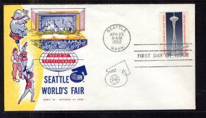 US 1196 Seattle World's Fair U/A FDC