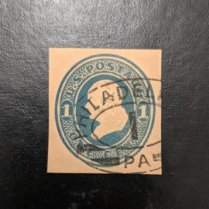 U.S. U74 VF cut square, CV $30
