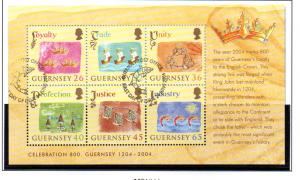 Guernsey Sc 843a 2004 Crown Loyalty stamp sheet used