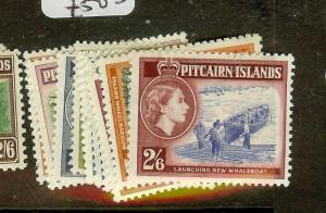 PITCAIRN ISLANDS (P2012B) QEII  SG18-28   MOG
