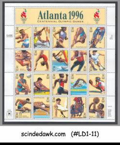 USA - 1996 CENTENNIAL OLYMPIC GAMES ATLANTA '96 - MIN/SHT MNH