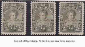 Newfoundland - 1/2c King Edward VIII As A Child #76 mint We Offer One Stamp.