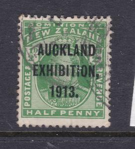New Zealand a 0.5d Edward with 1913 Exhibition overprint used