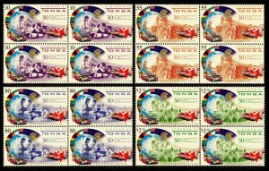 Tonga 2000 30th Anniv Membership of the Commonwealth Sg1483/Sg1486 2x2 Blcks MNH