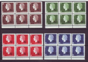 J24543 JLstamps 1963 canada set blk,s/6 mnh #o46-9 queen ovpt,s
