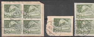 #330 Switzerland used on paper