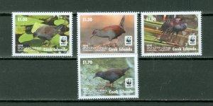 COOK ISL. 2014 BIRDS #1520-23...SET MNH...$8.75