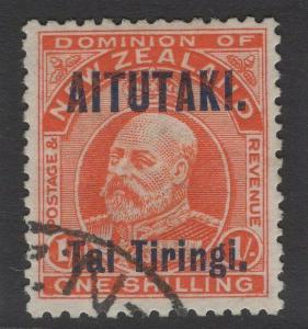 AITUTAKI SG12 1914 1/- VERMILION FINE USED