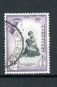 Swaziland 1956 10s Swazi Married Woman FU CDS